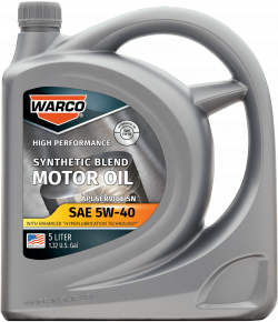 WARCO 5W-40 Synthetic Blend Motor Oil