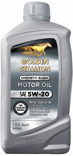 Golden Stallion Synthetic Blend SAE 5W-20 Motor Oil