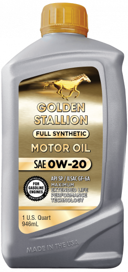 Golden Stallion Full Synthetic SAE 0W-20 Motor Oil