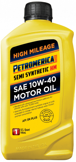 Petromerica 10W-40 Semi Synthetic High Mileage Motor Oil