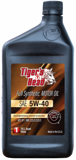 Tiger's 5W-40 Head Full Synthetic Motor Oil