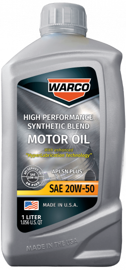 WARCO 20W-50 Synthetic Blend Motor Oil
