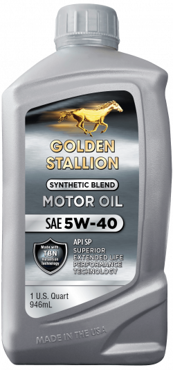 Golden Stallion Synthetic Blend SAE 5W-40 Motor Oil