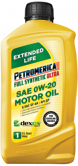 Petromerica 0W-20 dexos1TM GEN 2 Full Synthetic ULTRA Motor Oil