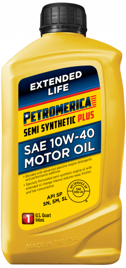 Petromerica 10W-40 Semi Synthetic PLUS Motor Oil