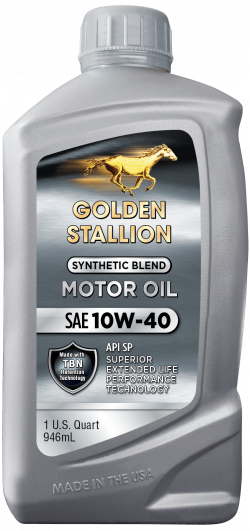 Golden Stallion Synthetic Blend 10W-40 Motor Oil