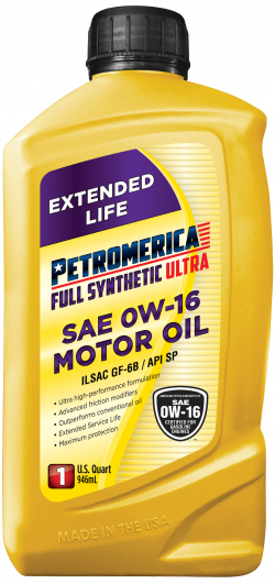 Petromerica 0W-16 Full Synthetic ULTRA Motor Oil