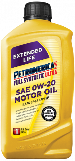 Petromerica 0W-20 Full Synthetic ULTRA Motor Oil