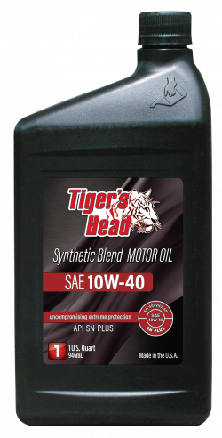 Tiger's 10W-40 Head Synthetic Blend SN PLUS Motor Oil