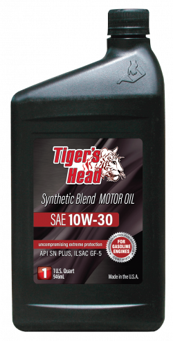 Tiger's 10W-30 Head Synthetic Blend SN PLUS GF-5 Motor Oil