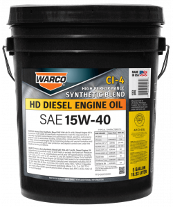 WARCO 15W-40 Heavy Duty Synthetic Blend CI-4/SL Engine Oil