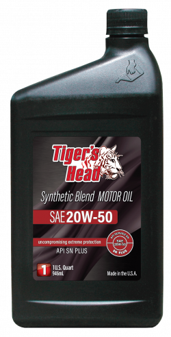 Tiger's 20W-50 Head Synthetic Blend SN PLUS Motor Oil
