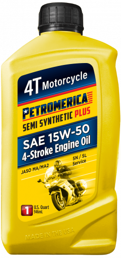 Petromerica 15W-50 4T Semi Synthetic PLUS Motorcycle Engine Oil
