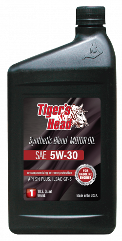 Tiger's 5W-30 Head Synthetic Blend SN PLUS GF-5 Motor Oil