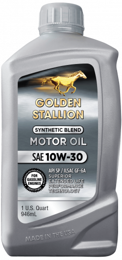 Golden Stallion Synthetic Blend SAE 10W-30 Motor Oil