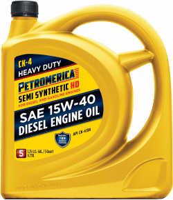 Petromerica 15W-40 CK-4 Advanced Heavy Duty Semi Synthetic Diesel Engine Oil