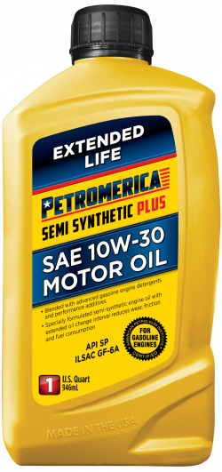 Petromerica 10W-30 Semi Synthetic PLUS Motor Oil