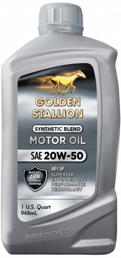 Golden Stallion Synthetic Blend SAE 20W-50 Motor Oil