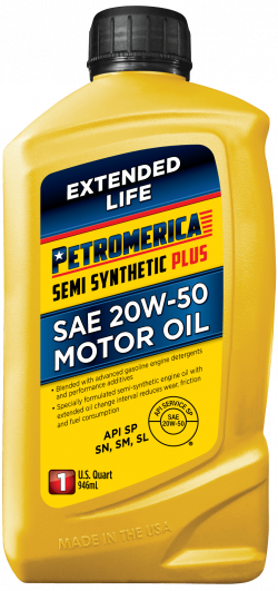 Petromerica 20W-50 Semi Synthetic PLUS Motor Oil