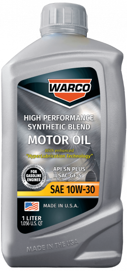WARCO 10W-30 Synthetic Blend Motor Oil