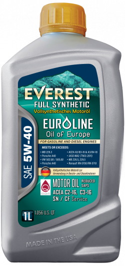 Everest 5W-40 Full Syn EuroLine Motor Oil