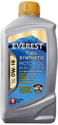 EVEREST 0W-16 Full Synthetic Motor Oil