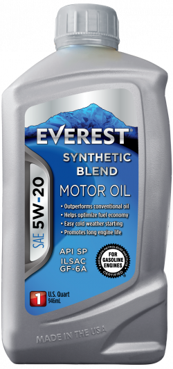 Everest 5W-20 Synthetic Blend SP GF-6A Motor Oil