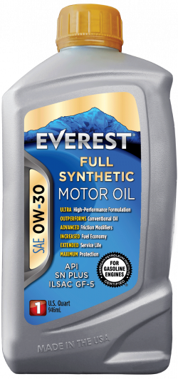 EVEREST 0W-30 Full Synthetic Motor Oil