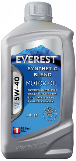 Everest 5W-40 Synthetic Blend Motor Oil