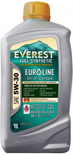 Everest 5W-30 Full Synthetic EuroLine Motor Oil