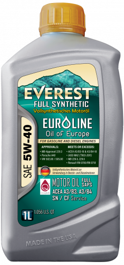Everest 5W-40 Full Synthetic EuroLine Motor Oil